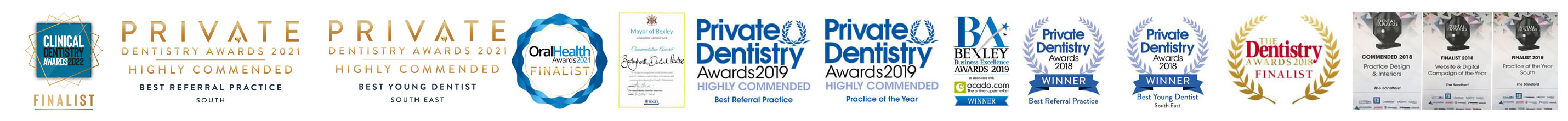 The Sandford Bexleyheath finalist in Dental Awards